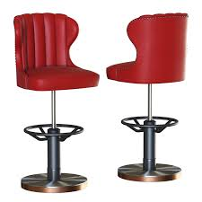 Alluring Asset Bar Stool Captains Cgtrader Chair Barber Vermilion