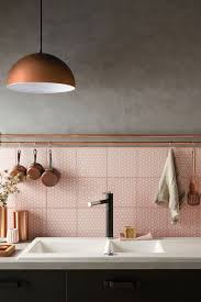Attingham Seagrass Geometric Decor Tile II copper and pink II kitchen tiles copper pendent Home Sweet 85