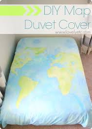 diy duvet covers diy map duvet cover easy sewing projects and no sew ideas