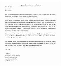 Employment Termination Letter Template Free Ukranagdiffusion Inspiration Employee Termination Letter Template Free