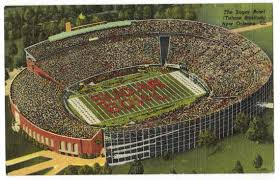 Tulane Stadium Seating Chart Sugar Bowl New Orleans Louisiana Vintage Linen Postcard