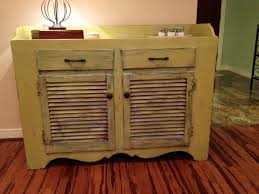 distressed furniture ideas. Chalk Paint Distressed Cabinet Furniture With Shutter Doors And Drawers, Adorable Ideas /