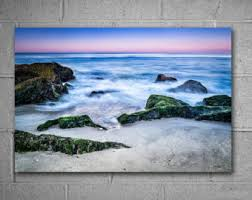 ocean sunrise themed metal wall art beach scene photography choose from available sizes ready to hang large wall art blue decor on metal wall art beach scenes with themes photography etsy