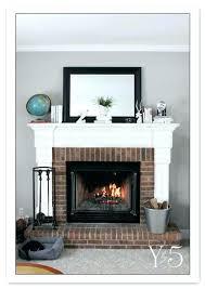 fireplace mantel installation brick fireplace mantel best red brick fireplaces ideas on red brick paint fireplace