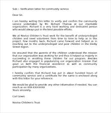 Letter Of Recommendation For Community Service Award Sample Community Service Letter 25 Download Free