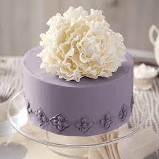 Sugar Paste Cake Decorating Peony On Pewter Cake Wilton