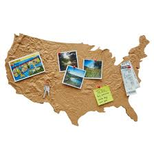Cork Bulletin Board Cross Country Keepsake Board Bulletin Boards Uncommongoods