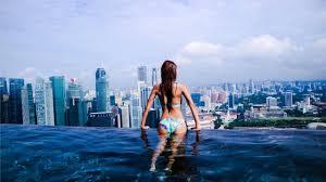 infinity pool singapore hotel. The World\u0027s Highest Infinity Pool At MARINA BAY SANDS Hotel Singapore