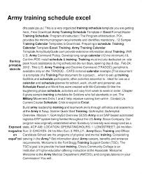 Reserve Component Pt Schedule Template Training Plan Army Form ...