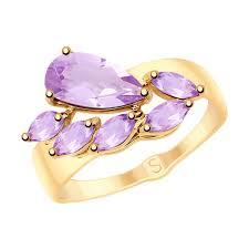 <b>Кольцо</b> из золота с <b>аметистами</b> SOKOLOV – купить в ...