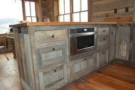 reclaimed wood cabinet doors. Old-Styled Reclaimed Wood Kitchen Cabinet For Rustic House : Sensational Bar Table With Cabinets Doors R