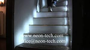 indoor LED stair lights with sensor LED stair lighting interior - YouTube