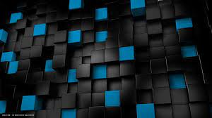 Black And Blue 3D Cube Wallpapers ...