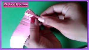 Paper Flower Crafts For Kindergarten Easy Paper Flower Making Craft For Children Youtube