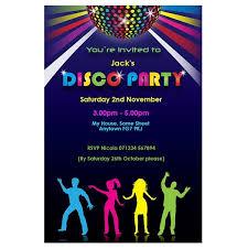 Childrens Disco Invitations