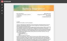 Resume With Cover Letter Kickresume Create a perfect cover letter in minutes and land 63