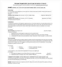 Resume One Page One Page Cv Sample On Basic Resume Template Page Resume Template