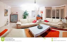 Orange Rugs For Living Room Modern Living Room Panorama Stock Photo Image 44462746