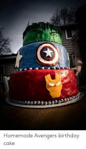 Homemade Avengers Birthday Cake Birthday Meme On Meme