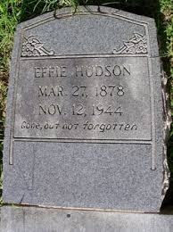 Effie Lee Whitmer Hudson (1878-1944) - Find A Grave Memorial