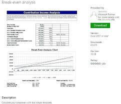 Break Even Graph Excel Break Even Template Excel Newgambit Club