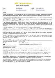 Sap Fico Sample Resumes Sap Bi Sample Resume For 2 Years