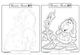 Free Disney Beauty And The Beast Coloring Pages Printable Princess