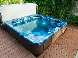image of new above ground hot tub