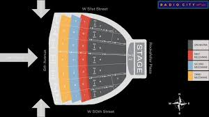 Radio City Christmas Show Seating Chart Radio City Music Hall Seat Map Msg Official Site For Radio