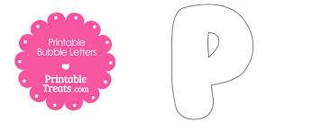 free printable bubble letter p template