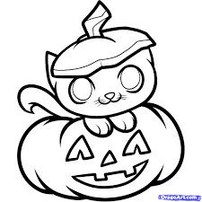 Small Picture Scary Cat Drawing Coloring Coloring Pages
