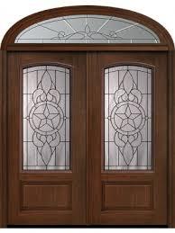 80 double 1 panel 3 4 arch lite brazos cherry walnut door w