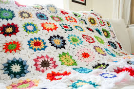 Colorful Squares Crochet Quilt - One Dog Woof & Colorful granny squares quilt | www.1dogwoof.com Adamdwight.com