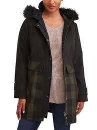 Product Image JASON MAXWELL Women\u0027s Long Faux Wool Jacket with Hood Womens Coats \u0026 Jackets - Walmart.com