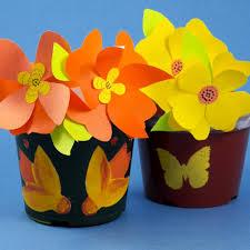 Paper Flower Pots How To Make Stenciled Flower Pots Decorative Crafts Aunt