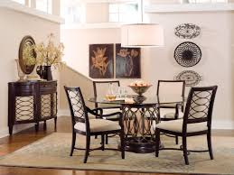 Glass Dining Table Set 4 Chairs Round Dining Table For 6 Free Image