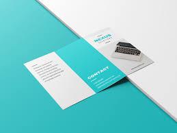 Brochure Design Ideas Minimalist White Teal Tech Marketing Trifold Brochure Idea