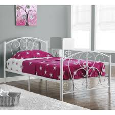 top 46 superb white metal twin frame paint chic inspirations full size with storage queen wood double king mattress design