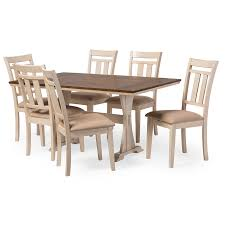 white dining table shabby chic country. Baxton Studio Roseberry Shabby Chic French Country Cottage Antique Oak Wood And Distressed White 7-Piece Dining Set With Trestle Base 60-Inch Fixed Top Table