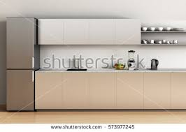 office kitchen furniture. Office Kitchen With Wooden Floor And Refrigerator, Sink, Apples, Blender, Kettle. Furniture