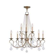 providence 9 light antique gold leaf incandescent ceiling chandelier