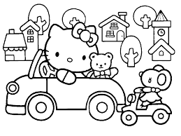 Small Picture Black And White Hello Kitty Pictures Coloring Home