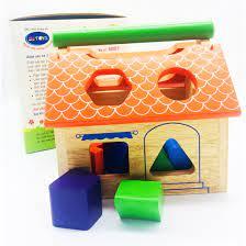 Đồ chơi gỗ - Nhà thả hình bằng gỗ cho bé trên 1 tuổi - Trò chơi trí tuệ  Thương hiệu winwin toys