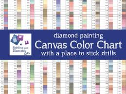 Canvas Dmc Color Chart Diamond Painting Drills Canvas Color Chart With Place To Stick Drills