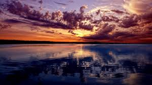 beautiful sky in sunset wallpaper
