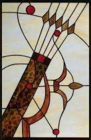 stained glass archery window