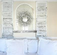 distressed shutter wall art shutters architecture degree window decor white win