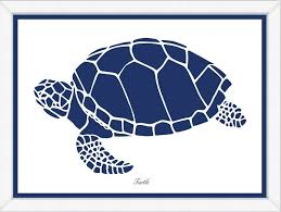 navy sea turtle framed child s wall art available in a variety of sizes