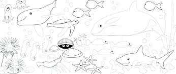 Ocean Animals Color Pages Sea World Coloring Pages Coloring Book Pages Ocean Animals Coloring