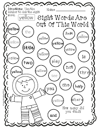 6f1fffc278864261a2ffd5db55722207 sight word dauber printables pre primer edition 40 pages of fun on pre primer sight word worksheets free